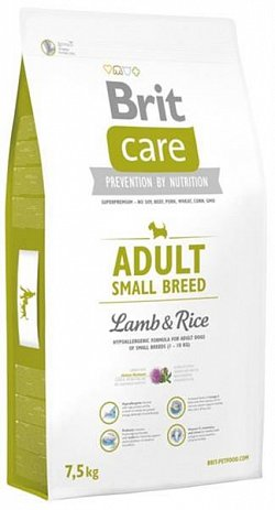 NEW Brit Care Adult Small Breed Lamb & Rice 7,5kg